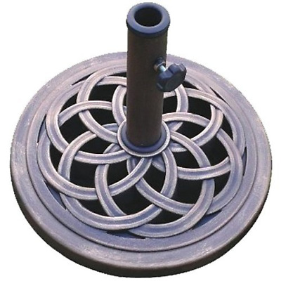 DC America UBP18181-BR 18-Inch Cast Stone Umbrella Base, Made from Rust Free Com