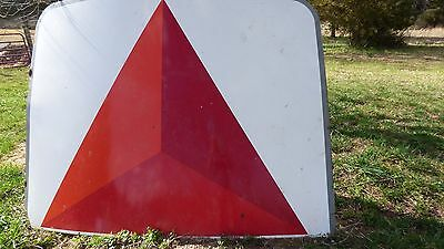 2 Vintage 1970's Huge 6x8 Foot CITGO Gas Porcelain, Thick Steel Signs,Petroliana