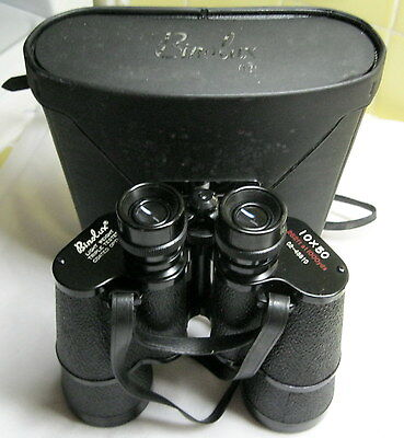 BINOLUX 10 x 50 Vintage Hunter Binoculars C2-45810 Made in Japan w/ Case - GOOD