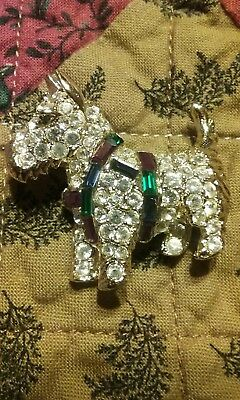 West Highland Terrier with Bling and Christmas Harness Pin/Brooch.