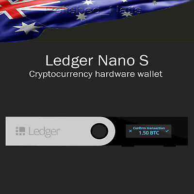 LEDGER NANO S Cryptocurrency Hardware Wallet BTC Ethereum Altcoins