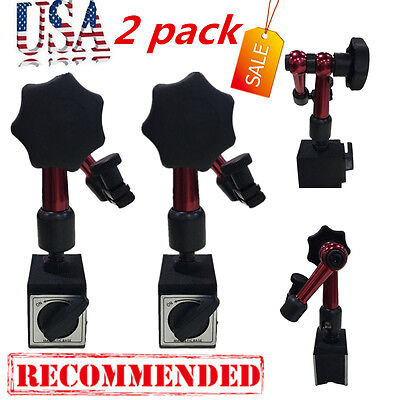 2X Mini Flexible Magnetic Base Holder Stand Dial Test Indicator Universal Tool M