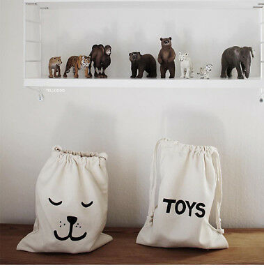 Cartoon Storage Bags Kids Baby Toy Clothing Organizer Mini Canvas Bag Home Decor