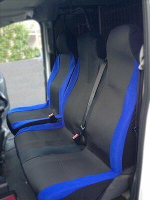 """IVECO DAILY VAN 1+1 2000-2014 ECO LEATHER /& ALICANTE /""""GT/"""" TAILORED SEAT COVERS"""