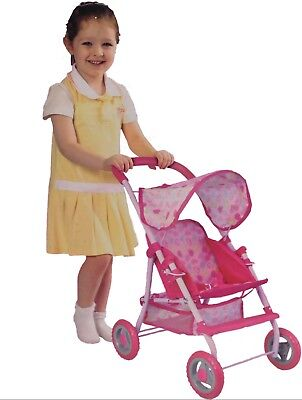 Sonia Baby Dolls Pram Girls Pink Toy Buggy Pushchair Pram with swivel wheels
