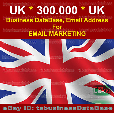 Uk 300.000 Active Email List And Database For Email Marketing