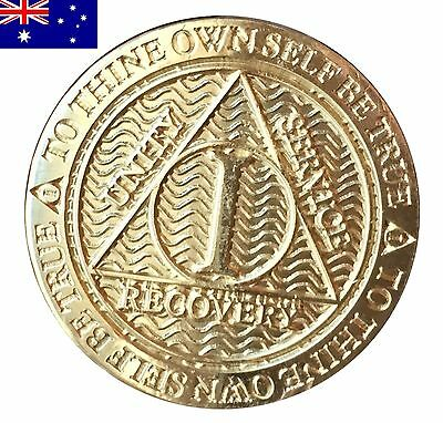 AA alcoholics anonymous recovery 1 Year (12 Month) sobriety coin token medallion