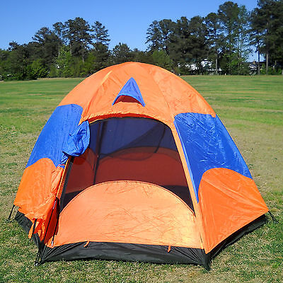 CLEARANCE Large Family Camping Hiking Double Layers Tent w/ Rainfly, Mesh Screen
