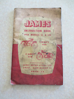 Original 1958 James Comet 100 & Cadet 150 motorcycles owners manual
