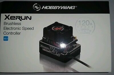 Hobbywing Xerun V3.1 Esc Sensored Black Cnc Pro Spec ,genuine Product,sealed