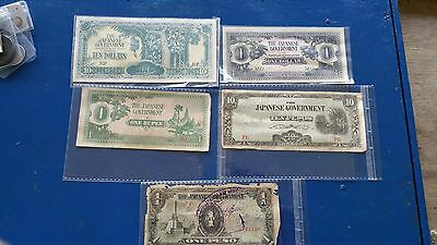 Japan Government Collection Money, Pesos+Rupee+Dollars, Different Grades Chq Pic