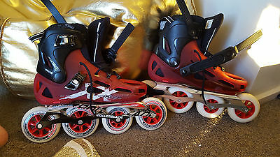 Men's rollerblades skates $700rrp selling 260 Maxxum 100 red as new size 10.5 au
