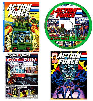 Action Force 73 comics various issues weekly/monthly Annual Specials on DVD