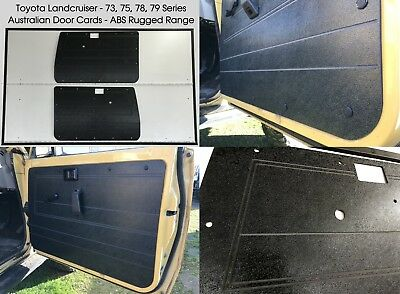 Toyota Land Cruiser 75, 78, 79 Series ABS Door Trim Panels. Rugged & Waterproof.