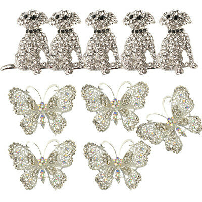 10x Vintage Animal Broaches Butterfly Crystal Rhinestone Brooch Brooches Lot