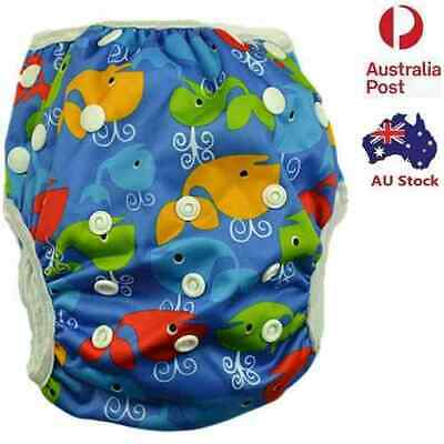 Washable Swim Nappy Baby Boy Toddlers Cover Diaper Pants Nappies Swimmers (S127)