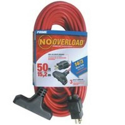 Prime Wire and Cable CB614730 No Overload Extension Cords, Outdoor, Triple Ta...