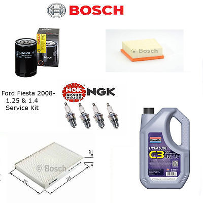 Ford Fiesta Mk7 1.25 & 1.4 2008>2013 Service Kit Inc 5 Ltrs Of Granville Oil