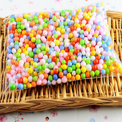 Styrofoam Plastic Foam Mini Beads Ball DIY Assorted Colors Craft Tools Decorate