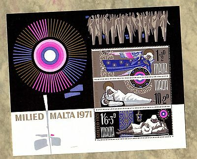 MILIED MALTA 1971 Sheet Stamps