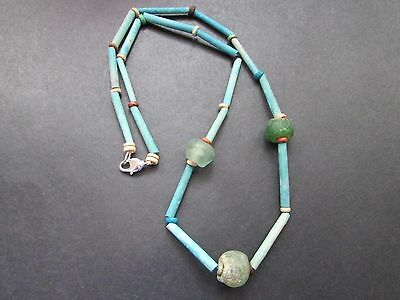 NILE  Ancient Egyptian Glass Bead Mummy Bead Necklace ca 600 BC