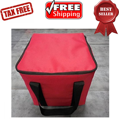 """Insulated Food Delivery Top Load Bag with Foam Interior & Square Shape 12x12x12"""""""