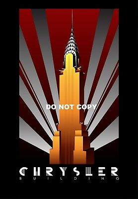 Vintage Art Deco Chrysler Building Usa A4 Glossy Photo Poster Print #10