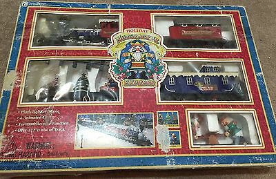 Vtg 1997 Holiday Nutcracker Express Musical Train Set Toy State #5303 Complete