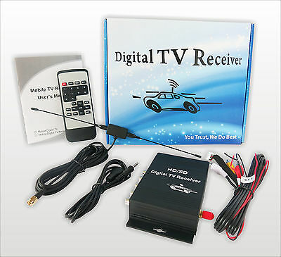 Car Digital TV ATSC Tuner Receiver Box Video Output for United States Canada