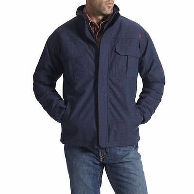 Ariat Men's FR Navy Blue Work Jacket - 10015947 XXL - Flame Resistant