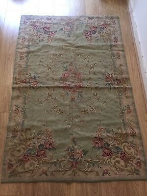 Beautiful Antique 19th C Handmade Needlepoint Aubusson Tapestry / Carpet / Rug