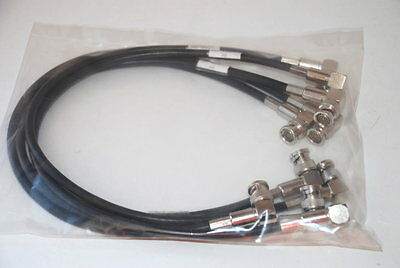 """Belden Right Angle BNC Male 18"""" Test Patch Cables Qty 5 Pcs  (H2)"""