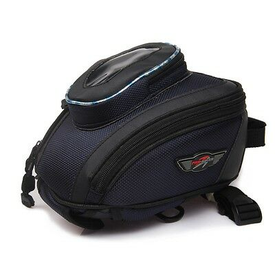 Bag Tank Black Oil Fuel Magnetic Motorcycle Motorbike Saddle Travel Waterproof