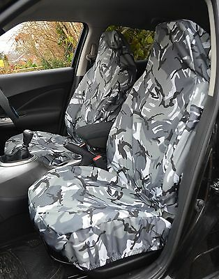 MERCEDES-BENZ SLK ROADST Heavy Duty Waterproof Seat Covers Protectors Grey Camo