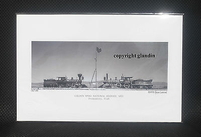 Panoramic Print - Golden Spike Ceremony - Le Signed & Numbered, B & W 11X17