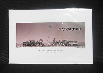 Panoramic Print - Golden Spike Ceremony - Le Signed & Numbered, Sepia 11X17