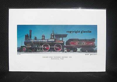 Panoramic Print - Golden Spike Ceremony - Le Signed & Numbered, Engine 119 11X17