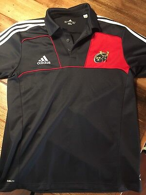adidas Munster rugby union polo shirt jersey