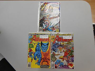 The Avengers comic lot of 3! #'s 164,178 and 182! FN/VF7.0- to VF8.0+ Marvel!