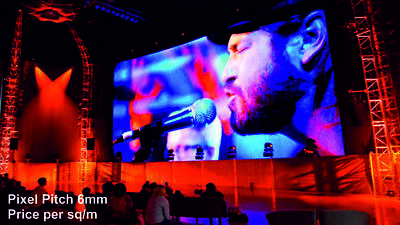 Full Colour LED Video Wall Display - Pixel Pitch 6mm - Indoor - price per 1m²