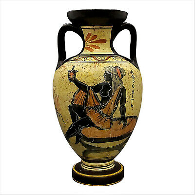 Greek Ceramic AMPHORA Jar Vase Pot Vessel Painting Goddess Aphrodite 8.66΄΄