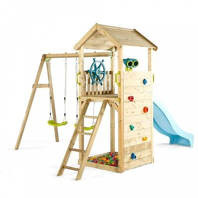 Swing Slide Rock Wall Lookout Tower Sand Ball Pit XMAS Gift Playground