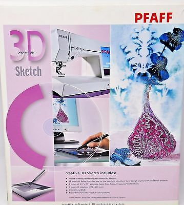 Pfaff 3D Creative Sketch Embroidery Software Inspira Drawing Tablet