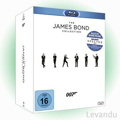 Blu-ray Box THE JAMES BOND COLLECTION - Alle 24 Filme inkl. Spectre - 25 Discs