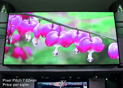 Full Colour LED Video Wall Display - Pixel Pitch 7.62mm - Indoor - price per 1m²