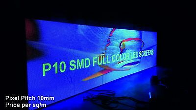 Full Colour LED Video Wall Display - Pixel Pitch 10mm - Indoor - price per 1m²