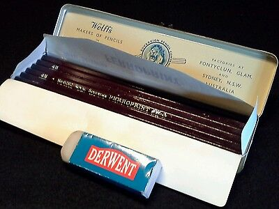 Wolff's Royal Sovereign Ferroprint Pencils in original tin packaging