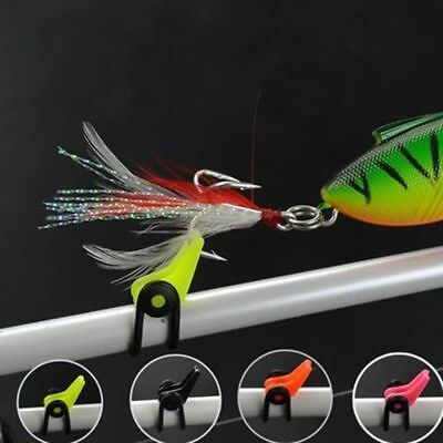 New 5pcs Fishing Rod Pole Hook Keeper Lure Spoon Bait Holder Tackle Accessories