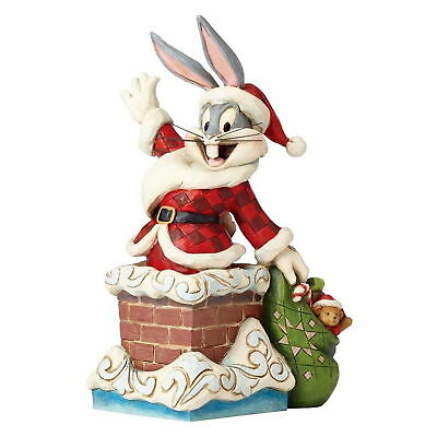 "Jim Shore Skulptur - Enesco 4052808 LOONEY TUNES ""Bugs Bunny-Up on the Roof Top"""