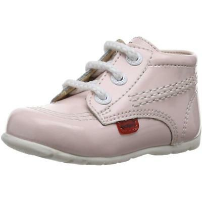 Kickers Kick Hi B Light Pink Leather Baby First Walkers Shoes
